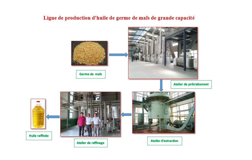 Machines d'Huile de Germe de Maïs/Ligne de Production d'Huile de Germe de Maïs