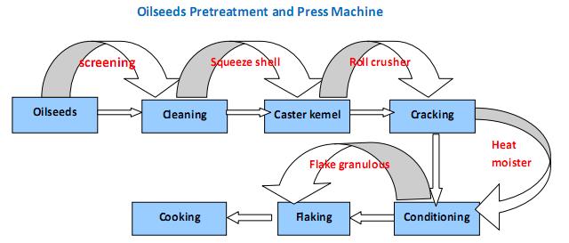 oléagineux prétraitement et de machines presse à huile