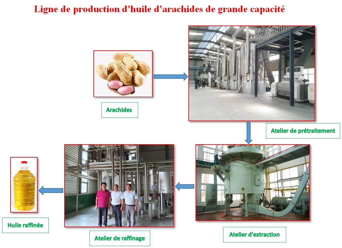Usine d'Huile d'Arachides/ Chine Machines d'Extraction d'Huile d'Arachides